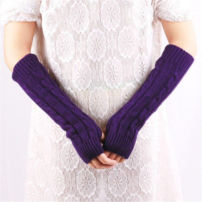 ̀ •́ Sin dedos Guantes mujeres brazo moda de invierno caliente de ...