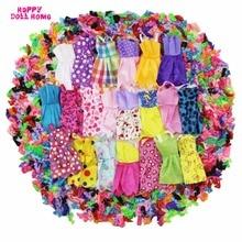 24 Pcs = 12 x Handmade Mini Dress Doll Clothes Short Skirt + 12 x Shoes High Heels Dollhouse Accessories For Barbie Doll Kid Toy