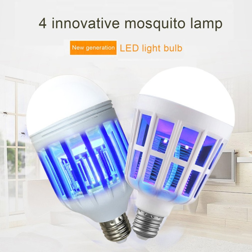LED Mosquito Killer Light Bulb Night Light Lamp Electronic Insects Flies Pest Killer Switch Mode 220V Household Accessories 9W