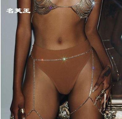 Bling garter thigh chain belt Thigh Chain font b crystal b font leg rhinestone bracelet body