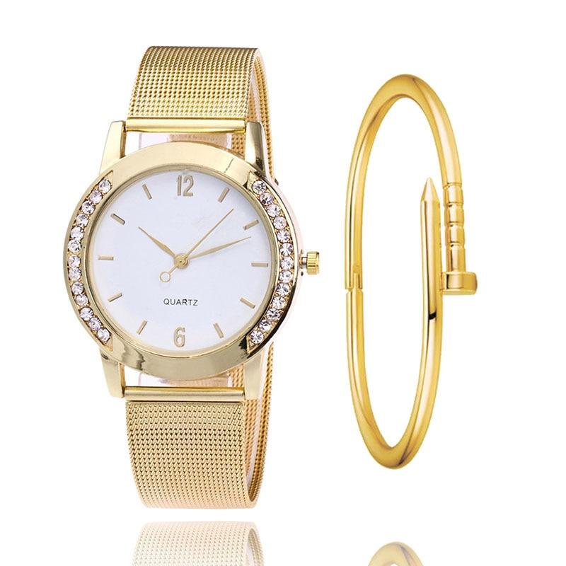 Luxury Women's Watches Crystal Full Steel Gold Watch Reloj Mujer Clock Fashion Watch Ladies Watches Relogio Feminino Dourado