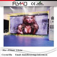 Cina sexy video tenda led wall display calda vide p50mm 2.8x6 m schermo video led parete video a led per la visualizzazione del sesso ragazza