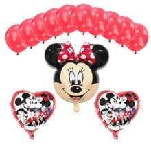 12 Peças/lote Mickey Minnie Mouse Balões Airwalker Balão Da Folha Dos Desenhos Animados Balão de Festa de Aniversário para Crianças Brinquedos Do Bebê Do Partido