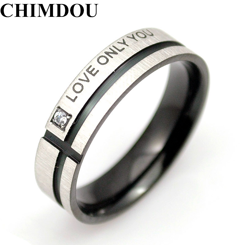 Love Only You Wedding Rings Men Jewelry Stainless Steel Rings Couple Lovers For Women