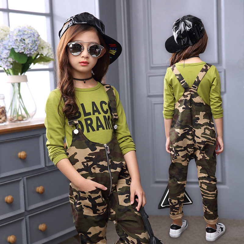 Children Tshirt Clothes Units Youngsters's Pants Shoulder Straps Lady Rompers Jumpsuit Pants Autumn Overalls for Lady Camouflage Swimsuit youngsters clothes, youngsters clothes vogue, youngsters vogue clothes,Low-cost youngsters clothes,Excessive High...