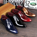 British Genuine Leather Shoes Fashion Men'S Casual Flats Party Shoes Men Leather Oxfords Red Dress Wedding Shoes 4 Colors