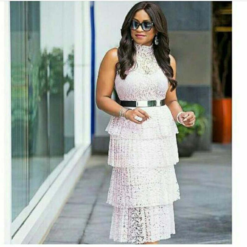 African Clothes Lace Pleated Dress Women 2019 Sleeveless Turn-down Collar Hollow Out Long Maxi Dress Belt White Pink Robe Runway