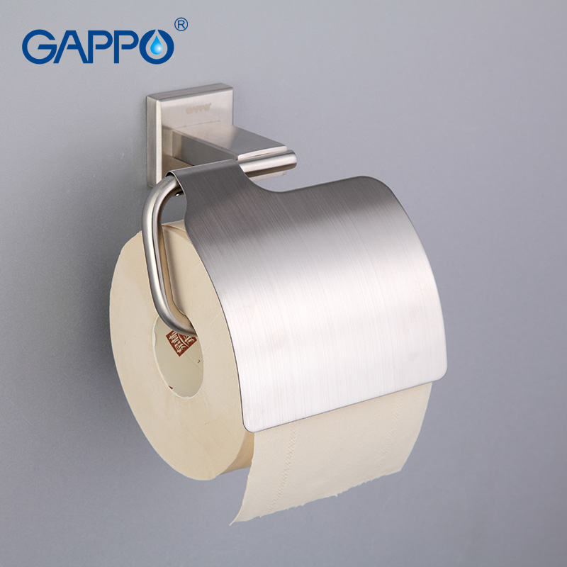 Image 1 - GAPPO High quality Wall mount Stainless Steel Cover Toilet Paper Holder Zinc Alloy Mounting Seat Bathroom accessoriesG1703covered toilet paper holdertoilet paper holderpaper holder -