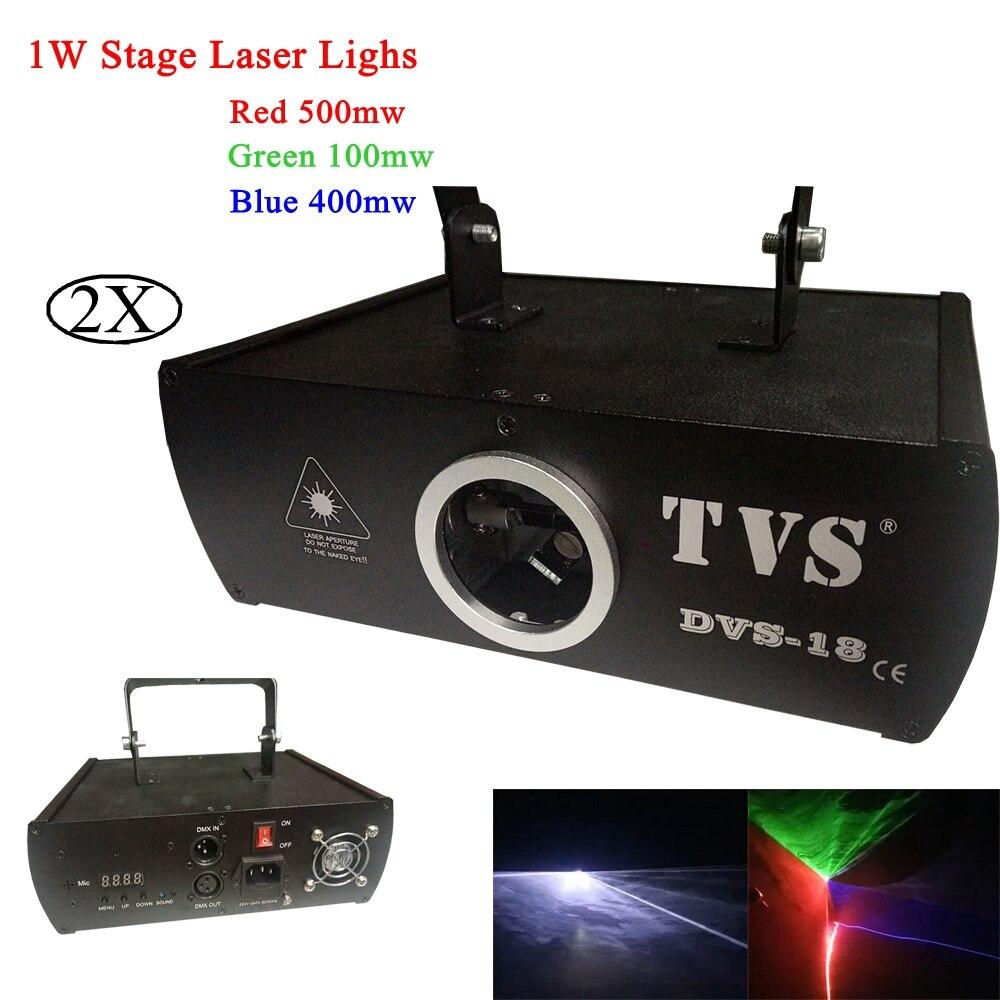 2pcs / παρτίδα υψηλής ποιότητας φάσης λέιζερ φως 1W RGB πλήρους χρώματος δέσμη λέιζερ φως με DMX512 και 60 είδη των μοτίβων γρήγορη ναυτιλία