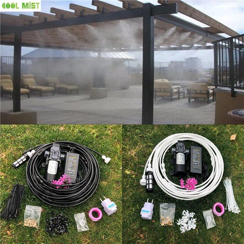 Ev ve Bahçe'ten Spreyler'de S033 12V su sprey elektrikli diyaframlı pompa kiti taşınabilir Misting otomatik su pompası 12M Misting soğutma sistemi sera için'da  Grup 1