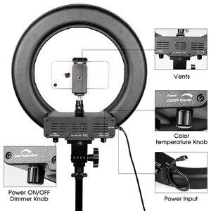 Image 4 - Travor 12インチledリングライト2色led調光可能リングランプ写真撮影selfieライトとビデオ用の三脚スタンドライブ