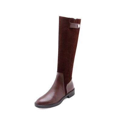 Winter boots spring and autumn models small but knee flat boots childrens knight boots high tube brown low heel high boots leatWinter boots spring and autumn models small but knee flat boots childrens knight boots high tube brown low heel high boots leat