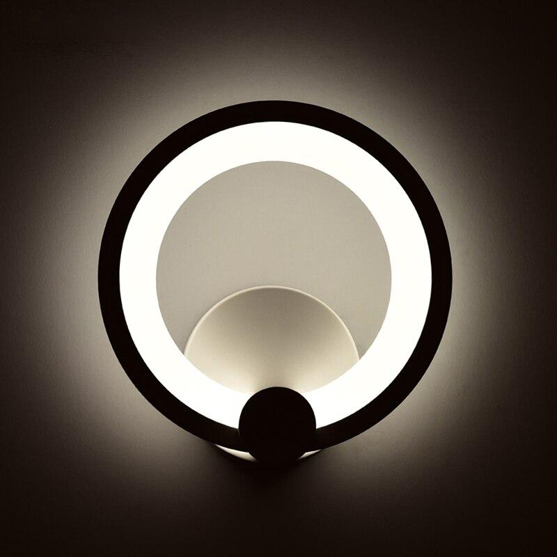2019 nouvelle lampe de mur LED moderne avec 12W 16W mur blanc éclairage intérieur AC100-265V autour de l'art du corps acrylique