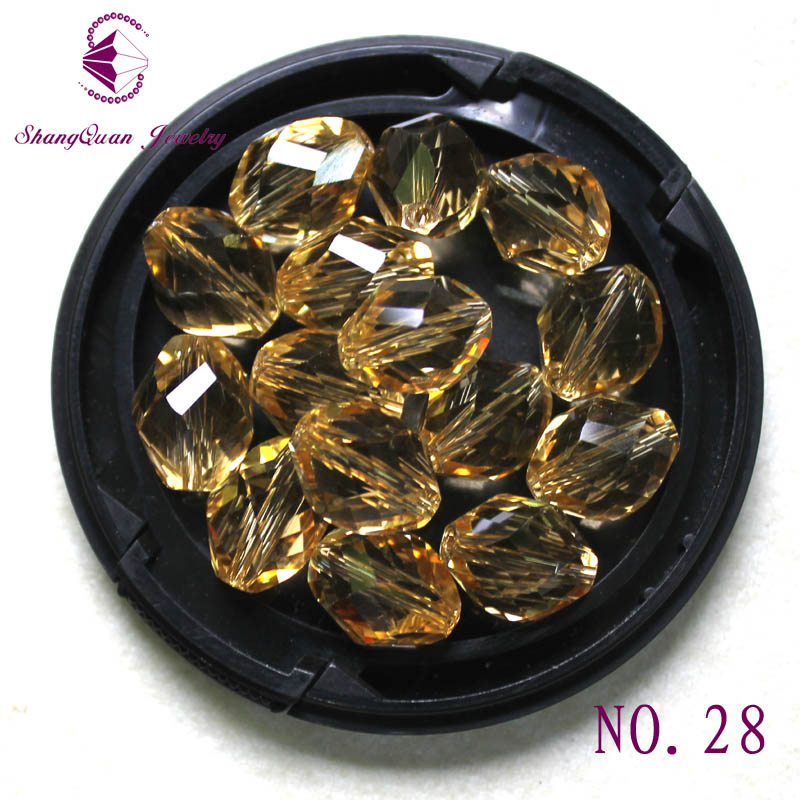 Hot New 13x10mm Twisted Rhombus Crystal Glass Beads Oval Shape Beads For Bracelets Necklace Wedding Jewelry DIY SQ3A51310 in Beads from Jewelry Accessories