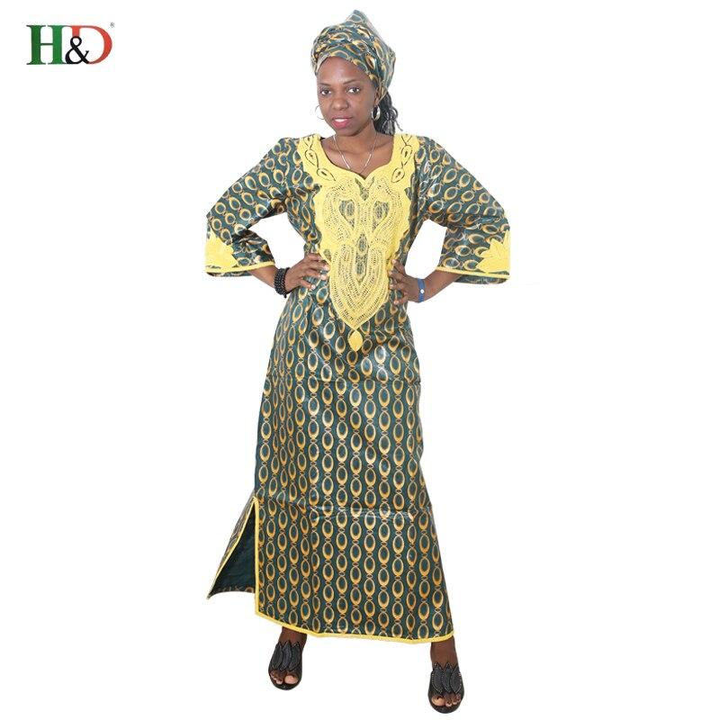 H D 2018 New Designer African Bazin Riche Dress For Women