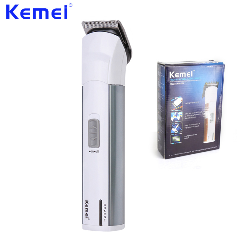KEMEI Professional Electric Hair Clipper Trimmer Razor Battery Rechargeable Hair Cutting Machine aparador de barba KM-028 top sale kemei km 666 dry battery style electric hair clipper excluding battery