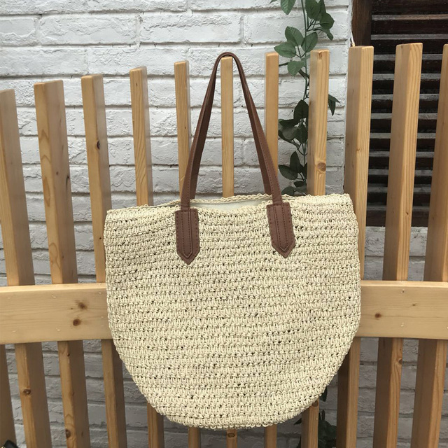 Casual Handwoven Straw Bags