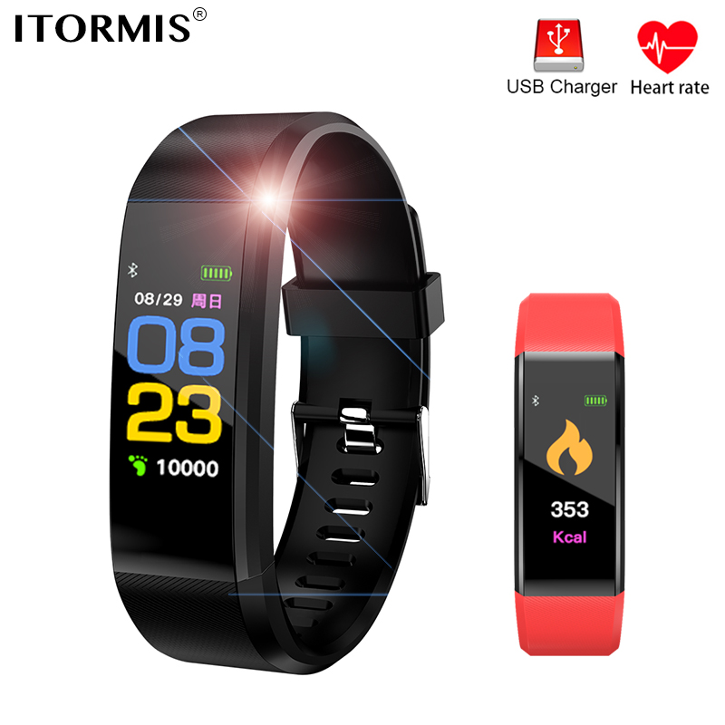 ITORMIS Smart Wristband Fitness Bracelet Smart Sport Band with Heart Rate Tracker Pedometer Waterproof PK mi band miband 2 3