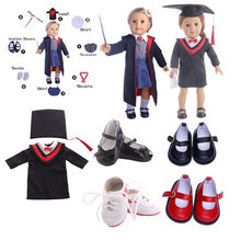 Doll Clothes School of Magic Uniforms&Doctor Degree For 18 Inch American&43 Cm Born Boy Generation Girl`s Toy(Include the Shoes)(China)