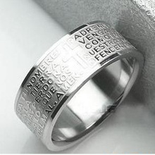 316L библейские кольца из нержавеющей стали кольца из титана для женщин и мужчин