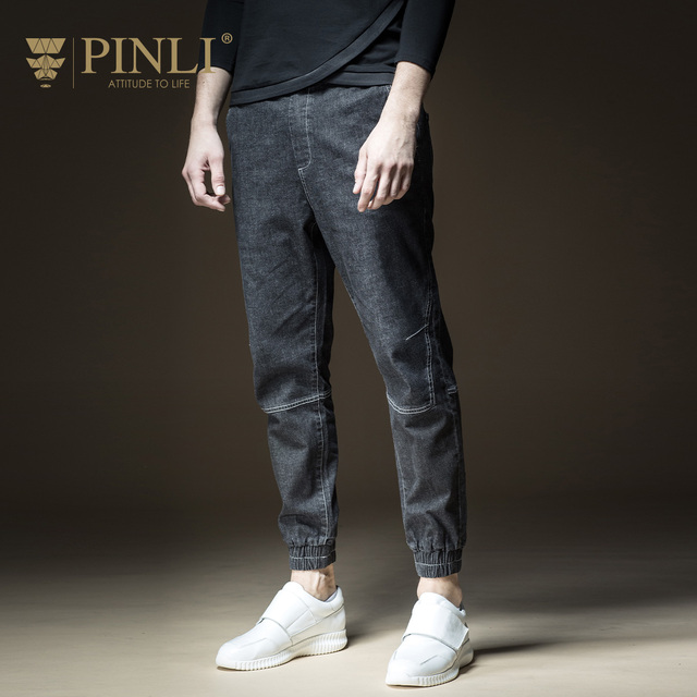 Skinny Jeans Men Hot Sale Pinli Product Made 2018 Spring New Men's Cultivate Morality Feet Long Denim Trousers B181116192 Beam