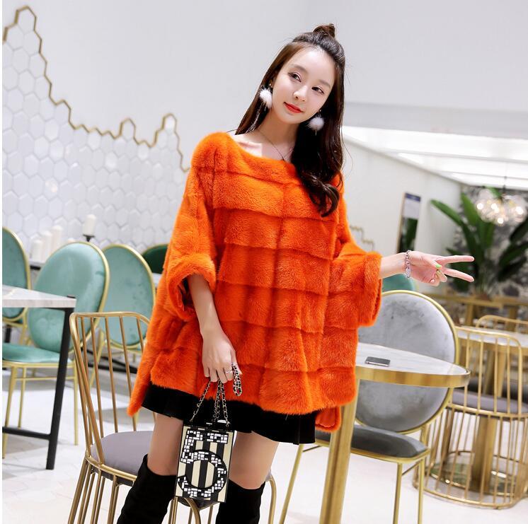 Neuer realer Nerzpelzmantelfrauen Winter starkes warmes natürliches - Damenbekleidung - Foto 3