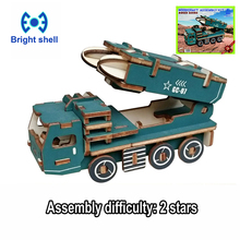 DIY arts and 3D army Handmade Wooden Craft toys Party Arts Puzzles Model Decoration for children kid Toy Birthday Best Gift