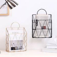 Nordic Style Magazine File Book Rack Desktop Hanging Storage Shelf Office Home Oct-8C