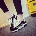 2016 Nuevas Mujeres Zapatos de Gamuza Casuales Transpirable Cesta Plana Entrenadores Tenis Feminino Femme Zapatillas Deportivas Mujer Scarpe Donna