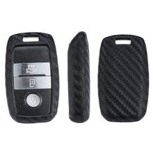 цена на Carbon Fiber Pattern Key Case Cover For Kia KX3/KX5/K3S/RIO/Ceed/Cerato/Optima/K5/Sportage/Sorento/K2/Soul/K3 K4 K5 Styling