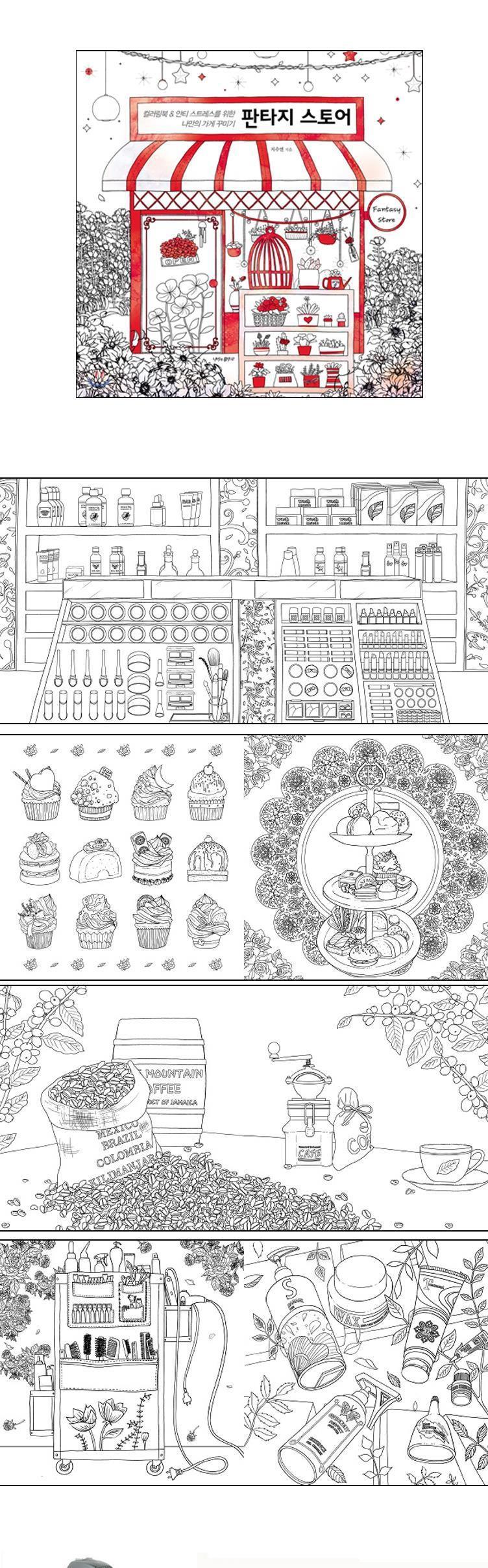 Fantasi Toko Seni Mewarnai Buku Secret Garden Menghilangkan