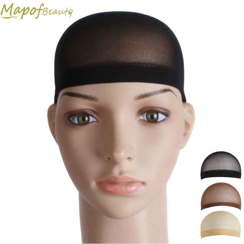 2pcs/set Mesh Weaving Stretchable Cap Black Flesh Color Wig Making Caps Hairnets Hair Net Hair Mesh Synthetic Hair Mapofbeauty New Varieties Are Introduced One After Another