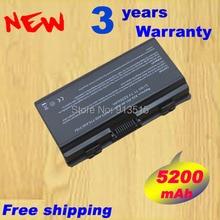 4400 MAH batería del ordenador portátil para ASUS X51H X51L X51R X51RL T12 T12C T12Er T12Fg T12Jg T12Mg T12Ug nqk1b1000y A32-T12 A32-X51