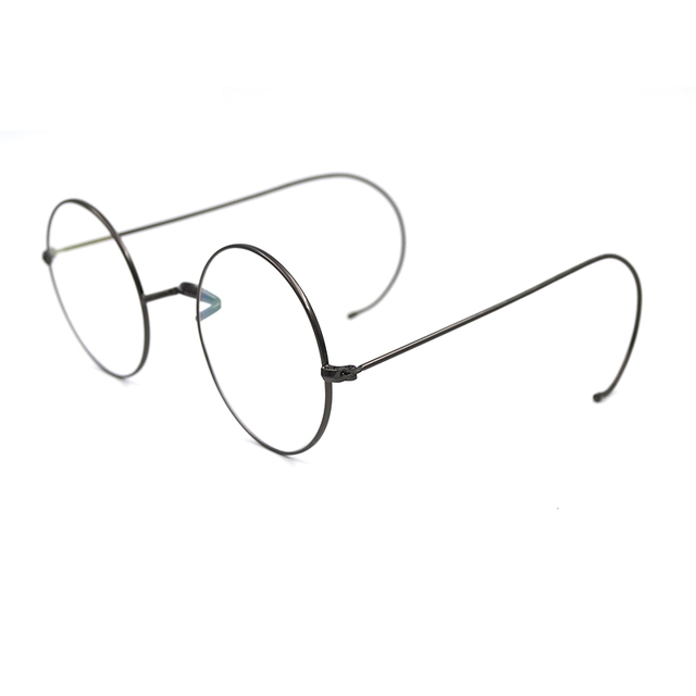 6f2d23be0309d New vintage Women Metal Round Glasses Frame With Ear Hook Adjustable Men  Over Size Plain Mirror