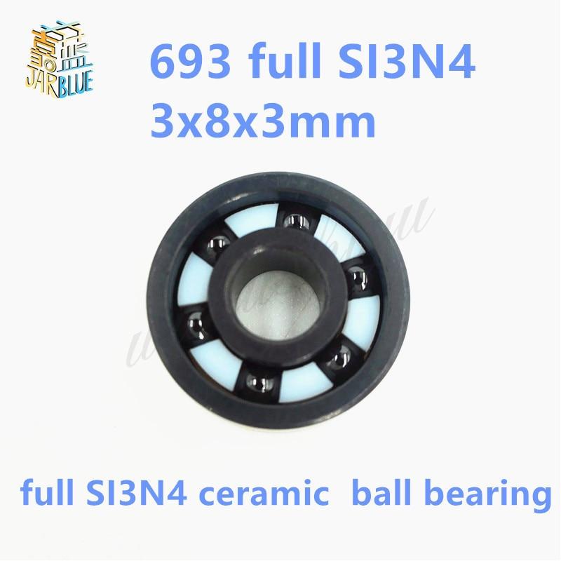Free shipping 693 full SI3N4 ceramic deep groove ball bearing 3x8x3mm good quality 6901 2rs full si3n4 ceramic deep groove ball bearing 12x24x6mm 6901 2rs