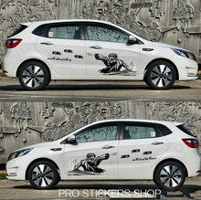 Reflective Personality Let The Bullets Fly Car Stickers Car Styling Golf 7 and decals motorcycle stickers