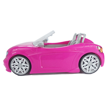 1/6 Doll Car 2 Seats Pink Convertible for Barbie Doll Accessories Classic Toy Gift for Girls Kids Not Battery Powered