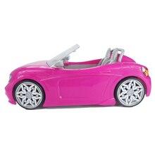 1/6 Pop Auto 2 Zetels Roze Convertible Voor Barbie Pop Accessoires Klassieke Speelgoed Cadeau Voor Meisjes Kids Niet Batterij Aangedreven