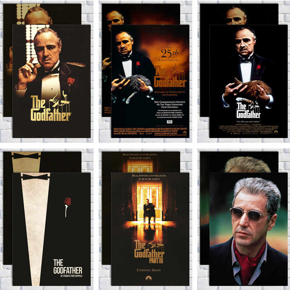 Godfather Posters Vintage Poster Movie Posters Wall Sticker Home Decor Retro Posters