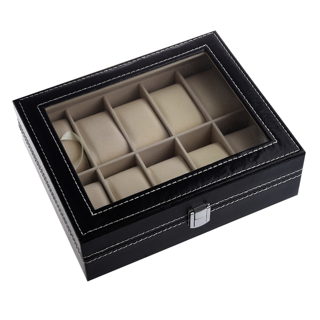 YCYS TIMETOP Watch Display Case Jewelry Collection Storage Organizer