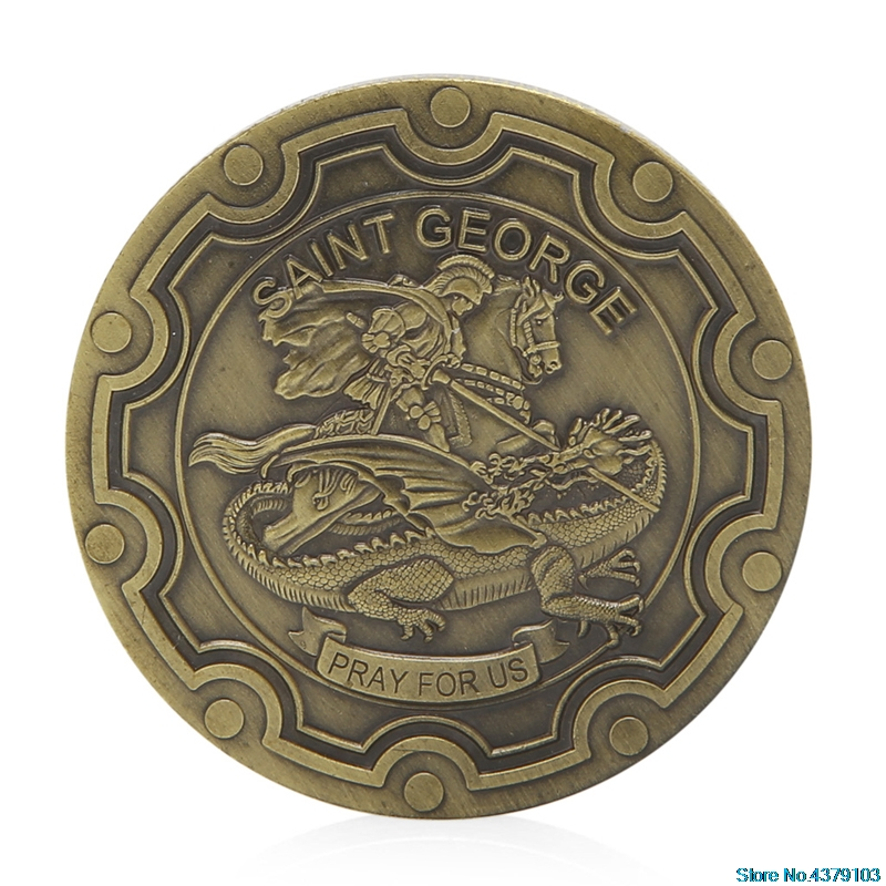 Saint George Design Commemorative Coin Zinc Alloy Commemorative Coin Collection Funny