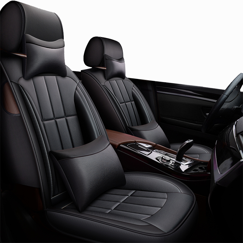 Front Rear Special Leather car seat covers For Nissan Qashqai Note Murano March Teana Tiida