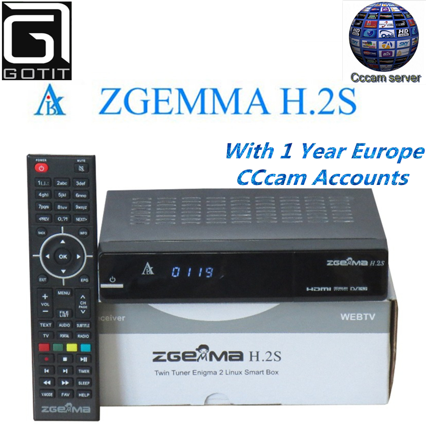 Zgemma Star H.2S Satellite Receiver Linux OS DVB-S2 Twin Tuner Decoder with 1 Year Europe Spain UK Italy French CCcam account satellite tv receiver decoder solo pro v2 dvb s2 with 1 year ccc m subcription support cccam and iptv