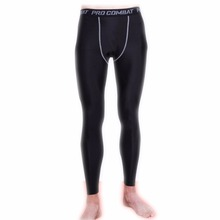 Men Sports Quick Dry Pants Gym Compression Pro Tights Trousers Leggings Train Joggers Basketball Running Fitness
