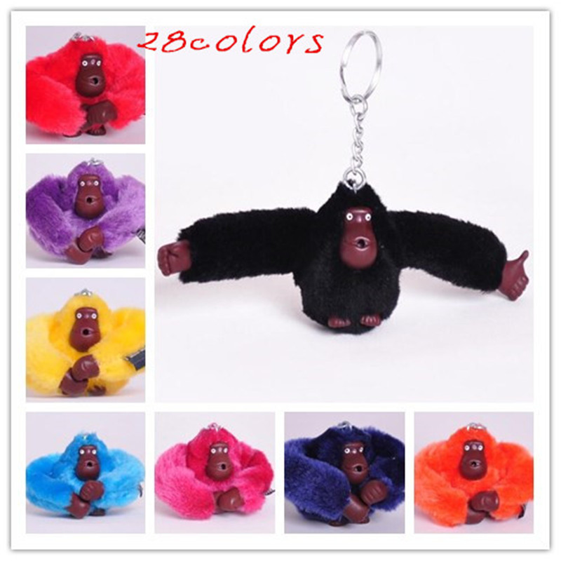 Top Selling Children's Kids Toys Cute Mini Monkey Plush Toys Bags Purse Pendant Keychain Colorful Monkey Toy Key Chain