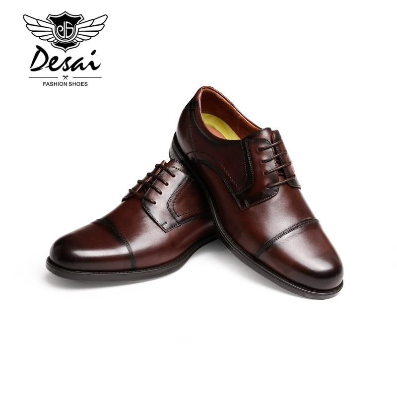 Vintage Genuine Leather Men Shoes Top Quality Oxfords Shoes For Men Dress Shoes