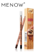 by DHL 200Pcs/Lot MENOW High Quality Cosmetic American Wood Eyebrow Pencil Lasting Waterproof Makeup Wholesale 10001596