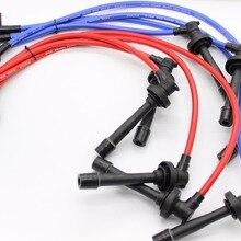 Гоночный провод к свече зажигания 10,2 мм для 92-95 96-00 Honda CIVIC D-SERIES EG/EK синий/желтый/красный