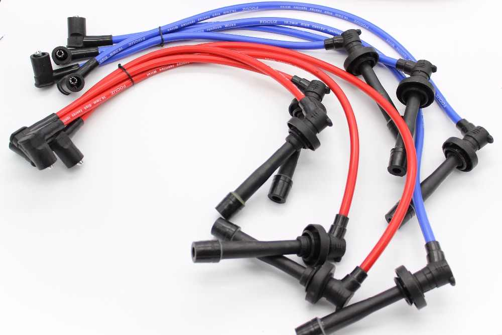 RACING SPARK PLUG WIRE 10.2MM FOR 92-95 96-00 Honda CIVIC D-SERIES EG/EK BLUE/YELLOW/RED