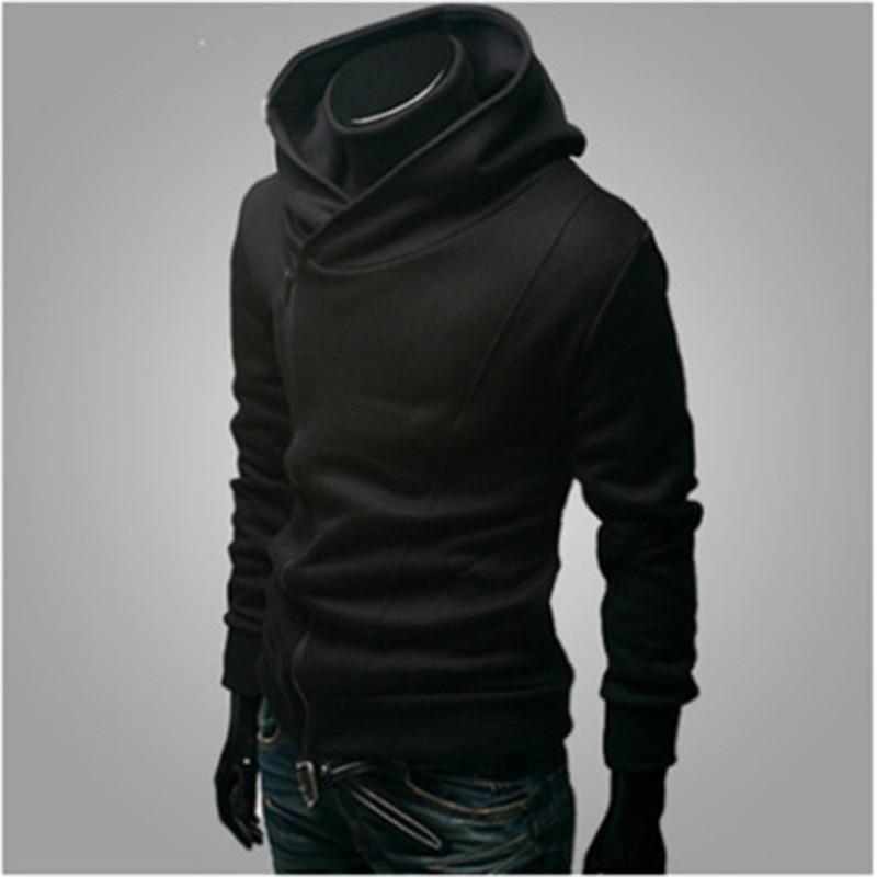 Assassins Creed Толстовки мужчин свитер с капюшоном бренд в стиле хип-хоп тонкая черная молния толстовки уличная survetement Homme Мода 2017 г.